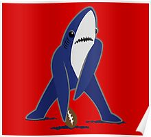 Katy Perry Dancing Tsundere the Shark - Patriots Logo Style Poster
