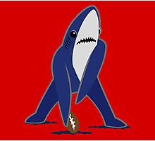 Katy Perry Dancing Tsundere the Shark - Patriots Logo Style Photographic Print