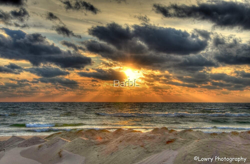 Fall Comes in Over Lake Michigan by BarbL