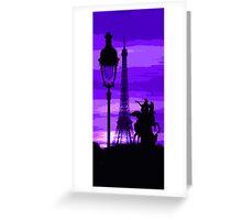 Paris Tour Eiffel Violet Greeting Card