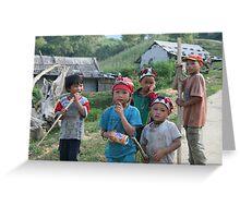 Taphin Village Kids Greeting Card