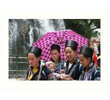 Black Hmong women Art Print