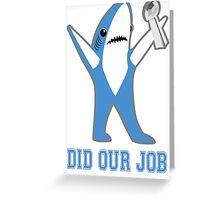 Katy Perry Tsundere the Shark - Patriots Lombardi Trophy Greeting Card