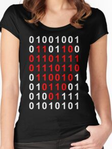 I Love You In Binary Women's Fitted Scoop T-Shirt