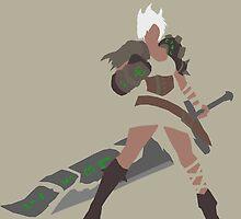 Riven League of Legends by dorkiestman