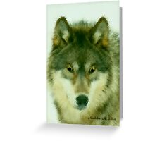 WOLF ~ LEADER OF THE PACK Greeting Card