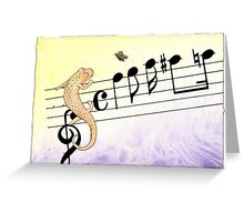 Salamander Notes Greeting Card