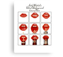 Andy Warhol Lips Canvas Print
