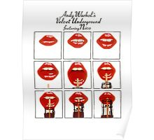 Andy Warhol Lips Poster
