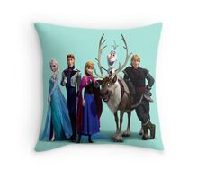 Frozen Characters Throw Pillow