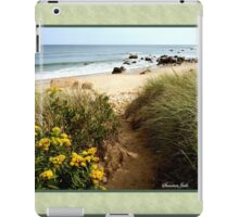 Block Island Pathway to the Sea iPad Case/Skin