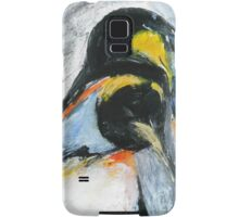 Penguins acrylics on paper  Samsung Galaxy Case/Skin