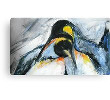 Penguins acrylics on paper  Canvas Print