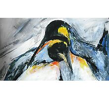 Penguins acrylics on paper  Photographic Print