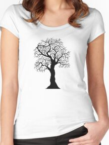 black tree  Women's Fitted Scoop T-Shirt