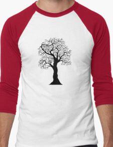 black tree  Men's Baseball ¾ T-Shirt