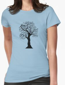black tree  Womens Fitted T-Shirt