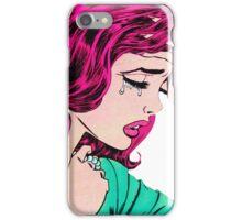 Crying Comic Girl iPhone Case/Skin
