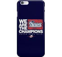 Patriots super bowl champions iPhone Case/Skin