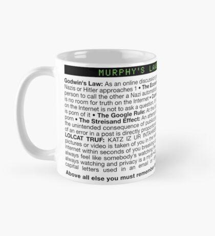 Murphy's Laws of the Internet Mug