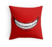 Hungry Smile Throw Pillow