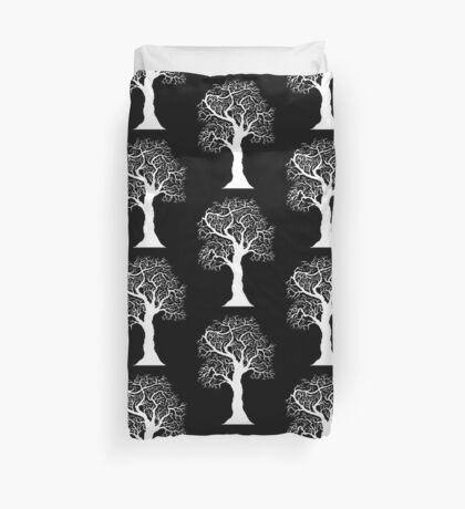 white  tree  Duvet Cover