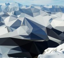 low poly mountains Sticker