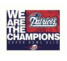 Patriots super bowl champions Art Print