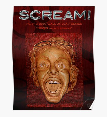 """WALL of CLAY: """"SCREAM!"""" Poster"""