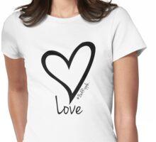 LOVE....#BeARipple Black Heart on White Womens Fitted T-Shirt