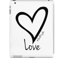 LOVE....#BeARipple Black Heart on White iPad Case/Skin