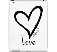 LOVE....#BeARipple Black Heart on White iPad Case/Skin