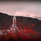 Mount Timpanogos Temple - Red by Ryan Houston