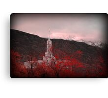 Mount Timpanogos Temple - Red Canvas Print