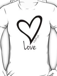 LOVE....#BeARipple Black Heart on Tiffany T-Shirt