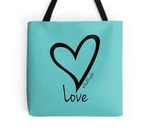 LOVE....#BeARipple Black Heart on Tiffany Tote Bag