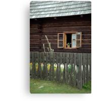 Liptov house, Pribylina, Slovakia Canvas Print