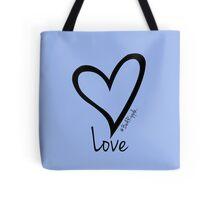 LOVE....#BeARipple Black Heart on Lavender Tote Bag