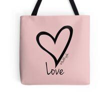 LOVE....#BeARipple Black Heart on Pink Tote Bag