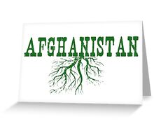 Afghanistan Roots Greeting Card