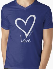 LOVE....#BeARipple White Heart on Black Mens V-Neck T-Shirt