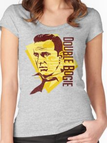 Humphrey Bogart retro graphic Women's Fitted Scoop T-Shirt