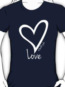 LOVE....#BeARipple White Heart on Red T-Shirt