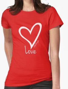 LOVE....#BeARipple White Heart on Red T-Shirt