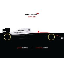 2015 McLaren Honda MP4-30 | Alonso | Button by ApexFibers