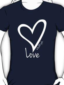 LOVE....#BeARipple White Heart on Lavender T-Shirt
