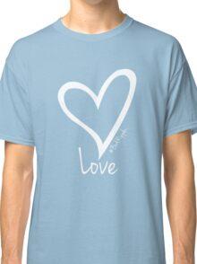 LOVE....#BeARipple White Heart on Tiffany Classic T-Shirt