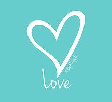LOVE....#BeARipple White Heart on Tiffany by BeARipple