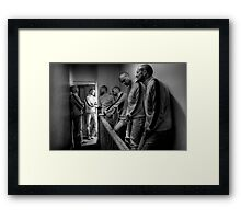Please hurry up! Framed Print