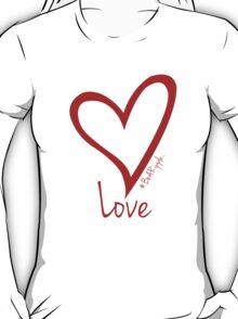 LOVE....#BeARipple Red Heart on White T-Shirt